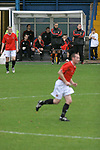 FC United of Manchester 8, Glossop North End 0, 28/10/2006. Gigg Lane, Bury, North West Counties League division one. FC United of Manchester manager Karl Marginson watching his team taking on Glossop North End (blue shirts) in a North West Counties division one match at United's home stadium, Gigg Lane, home to Bury FC. The match was staged on People United Day, an event started in 1999 which brought together fans from across Europe to campaign against racism. FC United were formed in the summer of 2005 by supporters of Manchester United in response to the take over of their club by American millionaire Malcolm Glazer and his family. The club entered the football pyramid at the lowest level with the intention to climbing through the leagues. FCUM won the match 8-0, watched by 3257 spectators. Photo by Colin McPherson.