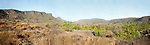 Meadow, rock outcrops and deciduous forest. Bandhavgarh National Park, India.