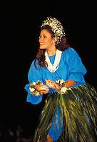 Hawaiian Hula dancer at Merrie Monarch festival