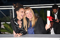 SASHA LANE WITH DIRECTOR ANDREA ARNOLD, WINNER OF THE JURY PRIZE FOR THE FILM 'AMERICAN HONEY' - PHOTOCALL OF THE WINNERS AT THE 69TH FESTIVAL OF CANNES 2016
