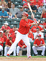 Los Angeles Angels JB Shuck (3) during a Spring Training game against the Chicago Cubs on February 28, 2014 at Cubs Park in Mesa, AZ. The Angels beat the Cubs 15-3.
