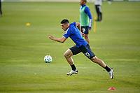 SAN JOSE, CA - NOVEMBER 4: Cristian Espinoza #10 of the San Jose Earthquakes before a game between Los Angeles FC and San Jose Earthquakes at Earthquakes Stadium on November 4, 2020 in San Jose, California.