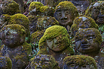 Japan, Kyoto, Setsubun Festival, special rituals to cleanse away all the evil of the former year and drive away disease-bringing evil spirits for the year to come , stone statues of disciples of Buddha or rakan