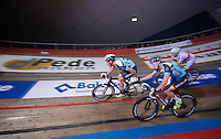 Wim Stroetinga (NLD)launches teammate Iljo Keisse (BEL)<br /> <br /> Gent6 2013