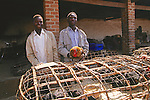 Men At Market Selling Chickens