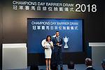SHA TIN,HONG KONG-APRIL 26: Champions day at Sha Tin Racecourse on April 26,2018 at Sha Tin Racecours in Sha Tin,New Teritories,Hong Kong (Photo by Kaz Ishida/Eclipse Sportswire/Getty Images)
