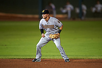 Salt River Rafters shortstop Jack Reinheimer (7) during an Arizona Fall League game against the Scottsdale Scorpions on October 14, 2015 at Scottsdale Stadium in Scottsdale, Arizona.  Scottsdale defeated Salt River 13-3.  (Mike Janes/Four Seam Images)