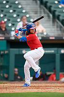 Buffalo Bisons Bo Bichette (13) at bat during an International League game against the Indianapolis Indians on June 20, 2019 at Sahlen Field in Buffalo, New York.  Buffalo defeated Indianapolis 11-8  (Mike Janes/Four Seam Images)