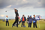 Pic Kenny Smith............. 05/10/2009.Dunhill Links Championship, St Andrews Links final day, Johan Edfors tees off at the 17th hole on the final day