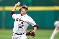 Dan Kickham (29) of the Missouri State Bears delivers a pitch during a game against the Bradley Braves on May 13, 2011 at Hammons Field in Springfield, Missouri.  Photo By David Welker/Four Seam Images