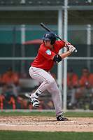 Boston Red Sox Tyler Esplin (30) bats during a Minor League Spring Training game against the Baltimore Orioles on March 20, 2019 at the Buck O'Neil Baseball Complex in Sarasota, Florida.  (Mike Janes/Four Seam Images)