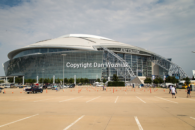 AT & T Stadium getting ready for the pre-season game between the Minnesota Vikings and the Dallas Cowboys at the AT & T stadium in Arlington, Texas. Minnesota defeats the Cowboys 28 to 14.