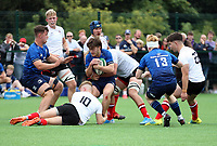 Saturday 4th September 20218 <br /> <br /> Senan Phelan during U18 Clubs inter-pro between Ulster Rugby and Leinster at Newforge Country Club, Belfast, Northern Ireland. Photo by John Dickson/Dicksondigital