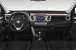 Stock photo of straight dashboard view of a 2015 Toyota RAVA4 Lounge 5 Door SUV