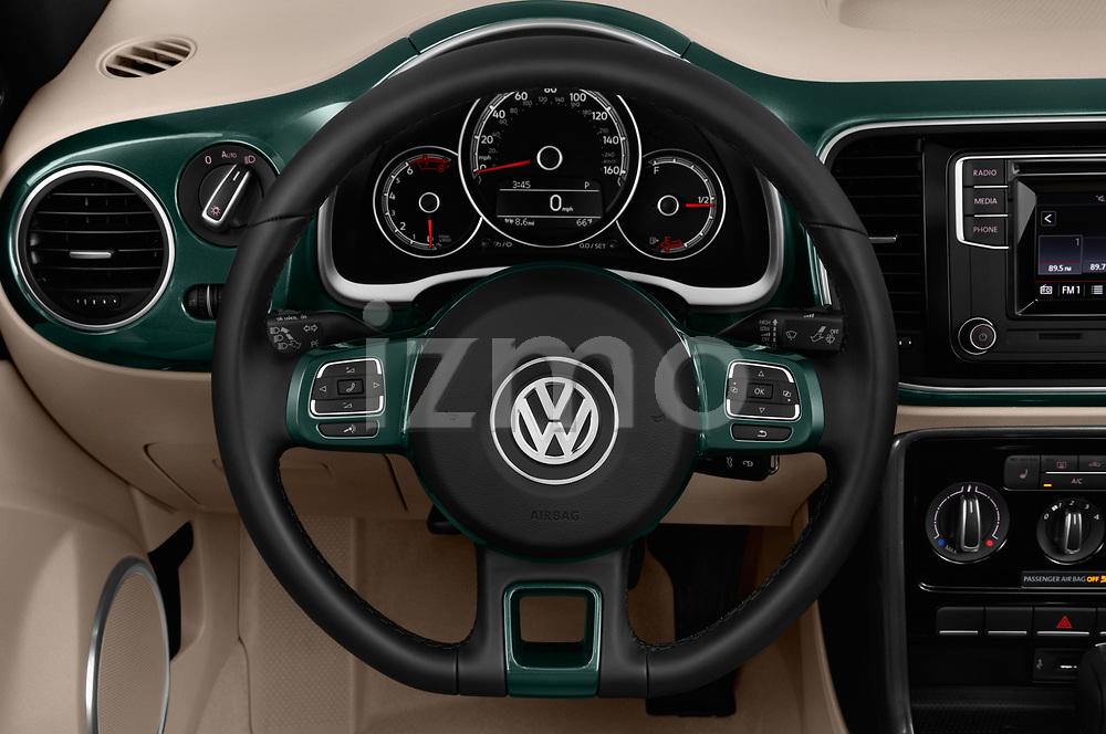 Car pictures of steering wheel view of a 2018 Volkswagen Beetle 1.8T-Dune-Conv.-auto 2 Door Convertible Steering Wheel