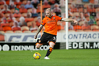 2nd October 2020; Tannadice Park, Dundee, Scotland; Scottish Premiership Football, Dundee United versus Livingston; Mark Connolly of Dundee United clips a ball up the wing
