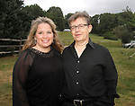 WOODBURY, CT- 08 September 2012 090812JW05 - Christine and William Ehlers of Avon pose for a photo during the Litchfield Hills Food, Wine, and Opera Gala at the Country Loft Saturday evening..Jonathan Wilcox Republican American..