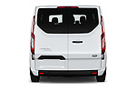 Straight rear view of 2021 Ford Transit-Custom-Kombi Trend 5 Door Combi Rear View  stock images