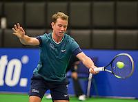 December 16, 2014, Rotterdam, Topsport Centrum, Lotto NK Tennis, Kevin Boelhouwer (NED)<br /> Photo: Tennisimages/Henk Koster