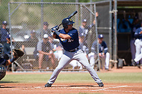 Milwaukee Brewers third baseman Dallas Carroll (40) at bat during an Instructional League game against the San Diego Padres on September 27, 2017 at Peoria Sports Complex in Peoria, Arizona. (Zachary Lucy/Four Seam Images)