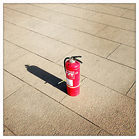 A fire extinguisher on Tiananmen Square in central Beijing.