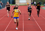 OXFORD, CT 050421JS11—Seymour's Nikol DaCruz took first place in the 100 meter dash during their NVL track meet Oxford and Sacred Heart with Tuesday at Oxford High School. <br /> Jim Shannon Republican American