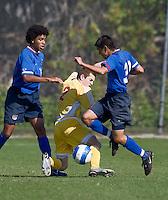 U.S. U17 Men's National Team .Development Academy.vs AFC Lighting.Bradenton, FL.Jan. 27, 2008.Christian Alvarez, (2) Vince Easterbrook