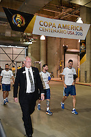 Houston, TX - Tuesday June 21, 2016: Lionel Messi, Argentina arriving prior to a Copa America Centenario semifinal match between United States (USA) and Argentina (ARG) at NRG Stadium.