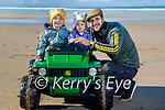 Enjoying a drive in Banna beach on Sunday, l to r: Killian, Aubree and Karl King.