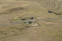 Church and Cemetery. 6 miles north of Calhan, Colorado.  Calhan Highway. Oct 2014.  817253