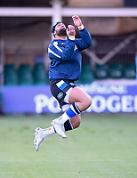 6th February 2021; Recreation Ground, Bath, Somerset, England; English Premiership Rugby, Bath versus Harlequins; Joe Cokanasiga of Bath warms up