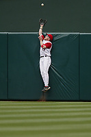 Darin Erstad of the Anaheim Angels during a 2003 season MLB game at Angel Stadium in Anaheim, California. (Larry Goren/Four Seam Images)