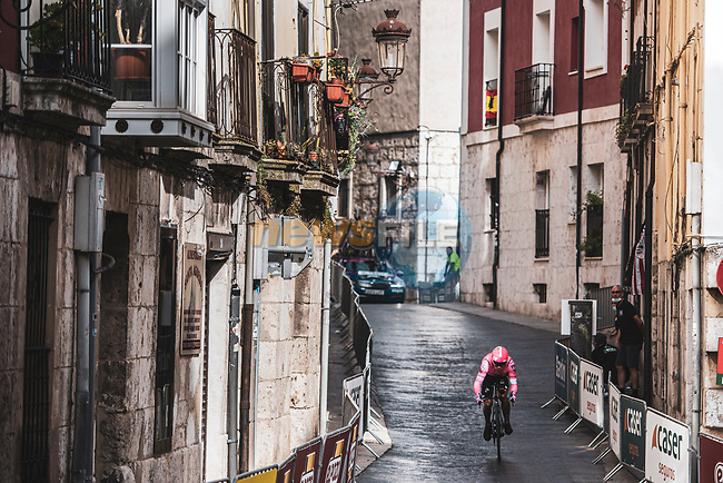 EF Education-Nippo rider in action during Stage 1 of La Vuelta d'Espana 2021, a 7.1km individual time trial around Burgos, Spain. 14th August 2021.    <br /> Picture: Unipublic/Charly Lopez | Cyclefile<br /> <br /> All photos usage must carry mandatory copyright credit (© Cyclefile | Unipublic/Charly Lopez)