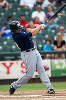 New Orleans Zephyrs outfielder Kyle Jensen (20) at bat during the Pacific Coast League baseball game against the Round Rock Express on June 30, 2013 at the Dell Diamond in Round Rock, Texas. Round Rock defeated New Orleans 5-1. (Andrew Woolley/Four Seam Images)