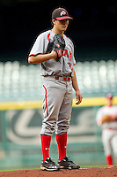 Starting pitcher Rick Anton #27 of the Utah Utes in action against the Texas A&M Aggies at Minute Maid Park on March 4, 2011 in Houston, Texas.  Photo by Brian Westerholt / Four Seam Images