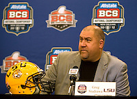 BCS National Championship - LSU Offensive Press Conference - January 7th, 2012