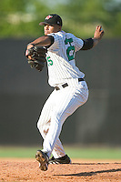 Winston-Salem relief pitcher Dewon Day winds up to deliver the ball to the plate versus the Frederick Keys at Ernie Shore Field in Winston-Salem, NC, Thursday, June 15, 2006.  Winston-Salem defeated Frederick 1-0 in game 1 of a double-header.