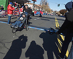 The wheel chair winner, during the 81st running of the Manchester Road Race, Thursday, November 23, 2017, in  Manchester. (Jim Michaud / Journal Inquirer)