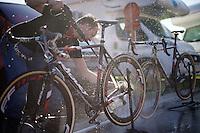 cleaning the bikes post-race<br /> <br /> U23 race<br /> Koppenbergcross 2015