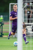 LAKE BUENA VISTA, FL - JULY 31: Robin Jansson #6 of Orlando City SC dribbles the ball during a game between Orlando City SC and Los Angeles FC at ESPN Wide World of Sports on July 31, 2020 in Lake Buena Vista, Florida.
