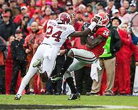 ATHENS, GEORGIA - October 3, 2015: The 8th ranked University of Georgia Bulldogs play the number 13 ranked Alabama Crimson Tide at Sanford Stadium.  Final Score Alabama 38, Georgia 10.