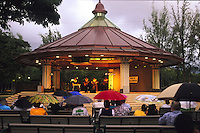 An evening performance at the Kapiolani Park Bandstand in Waikiki, Honolulu