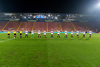 BREDA, NETHERLANDS - NOVEMBER 27: The USWNT lines up before a game between Netherlands and USWNT at Rat Verlegh Stadion on November 27, 2020 in Breda, Netherlands.