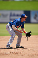 GCL Mets third baseman Nic Gaddis (73) during a Gulf Coast League game against the GCL Nationals on August 12, 2019 at FITTEAM Ballpark of the Palm Beaches in Palm Beach, Florida.  GCL Nationals defeated the GCL Mets 7-3.  (Mike Janes/Four Seam Images)