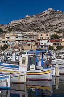 France, Bouches-du-Rhône (13), Marseille, capitale européenne de la culture 2013, Le port des Goudes  //  France, Bouches du Rhone, Marseille, european capital of culture 2013, the port of Goudes