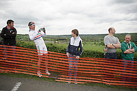 fans up La Redoute (max 22%) killing time while awaiting the riders to arrive<br /> <br /> Liège-Bastogne-Liège 2014