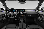 Stock photo of straight dashboard view of 2019 Mercedes Benz A-Class - 4 Door Sedan Dashboard