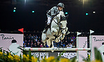 Kevin Staut of France riding Silver Deux de Virton HDC competes in the Longines Grand Prix during the Longines Masters of Hong Kong at AsiaWorld-Expo on 11 February 2018, in Hong Kong, Hong Kong. Photo by Zhenbin Zhong / Power Sport Images