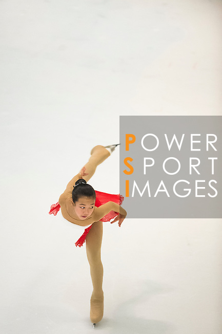 Qing Xu competes during the Asian Junior Figure Skating Challenge 2015 on October 07, 2015 in Hong Kong, China. Photo by Aitor Alcalde/ Power Sport Images