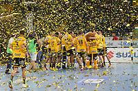 Rhein Neckar Löwen feiern den Sieg beim Weltrekordspiel - Tag des Handball, Rhein-Neckar Löwen vs. Hamburger SV, Commerzbank Arena